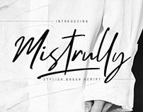 MISTRULLY - FREE BRUSH SCRIPT FONT