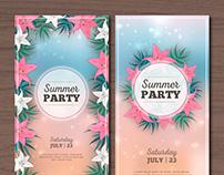 Summer Party Flyers III | Designed for Freepik