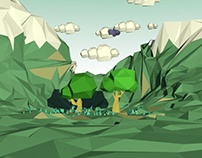 Low Poly (trees and mountains)