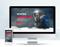 Winter Marketing - website concept