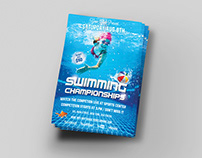 Swimming Championships Sports Flyer Title Design