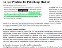 "Writing: ""10 Best Practices for Publishing on Medium"""