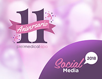 11 Aniversario Piel Medical Spa // Social Media