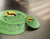 Fisher's Logo, Identity, Label & Sticker Design