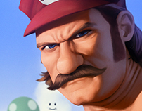 Buff Mario - Fan Art