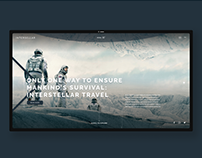 Interstellar movie fan site - UI/UX Design