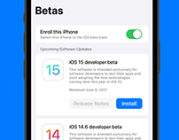 iOS Beta Distribution Concept
