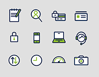 Insurance Website Icon Set