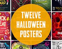12 Halloween Posters Bundle