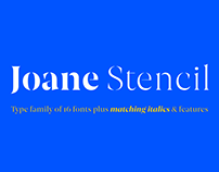 Joane Stencil™ Typeface