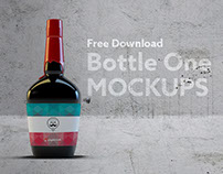 Bottle One Mockups Free Download