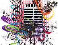 Vintage Microphone Grunge