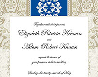 Stationery | Keenan-Knauss Wedding Invitation