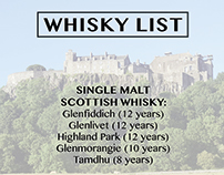 Whisky Menu