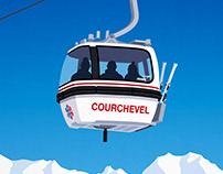 Courchevel Ski Resort Poster