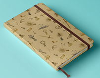 Shakespeare patterned notebook