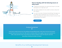 Landing Page for an offshore service providing agency