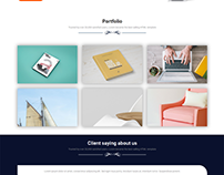 One page website psd