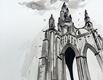 Ink Wash Cathedral