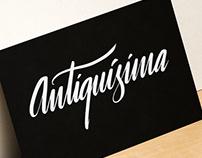 Antiquísima :: Branding y Lettering