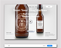 Brad identity and UX design for new beer.