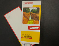 Trifold Brochure Design, roll fold soft touch finishing