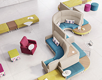 Coact Modular Lounge - Product Visualization