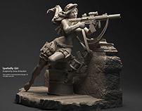 Speciality Girl - Miniature Sculpt for Hangar 18
