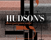 """Hudson's"" The Literary Cafe branding"