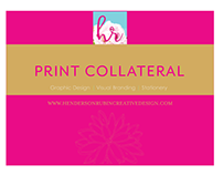 Print Collateral, layout and design.
