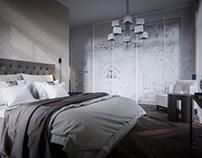 Bedroom renders.