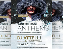 Winter Anthems Flyer Template