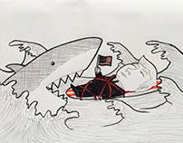 a los tiburones!