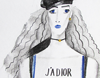 Dior. fashion illustration.