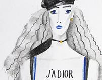 Dior. fashion illustration.