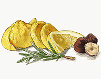Lemon, Hazelnuts and Rosemary
