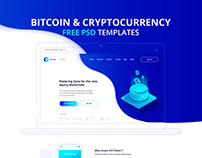 Free Psd Landing Page Bitcoin & Cryptocurrency 2018