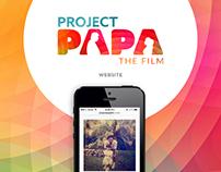 Project Papa Film | Web Design