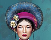 VIETNAMESE GIRL. Corel Draw 2017
