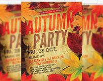 Autumn Party - Premium Flyer Template + Facebook Cover