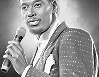 Luther Vandross Digital Painting by Wayne Flint