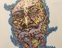 Mutant Alien Zombie Drawing