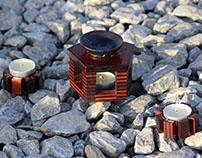 Essence burner & candle holders set