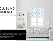 Kids Room - Roll Blind & Bedding Set