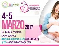 Diseño gráfico para Congreso Materno y Crianza