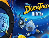 DuckTales & Andi Mack graphic pkg 2018 design.