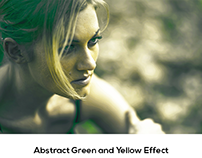 Abstract Green and Yellow Effect