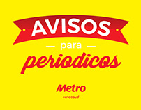 Avisos para periódicos - Metro - retail