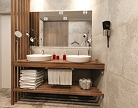 Public Interior Design - Hotel Bathroom Design