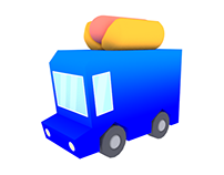 Low Poly Food Trucks